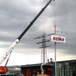 Preise für Werbeturm Werbemast Schleuderbeton Bau Montage W42