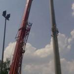 Preise für Werbeturm Werbemast Schleuderbeton Bau Montage W39