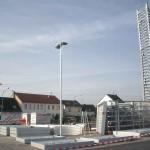 Preise für Werbeturm Werbemast Schleuderbeton Bau Montage W45