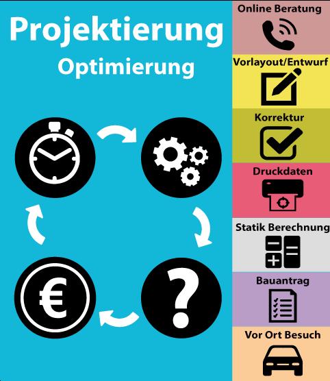 Projektierung - Diverse Dienstleistungen zur Ausführungsoptimierung.