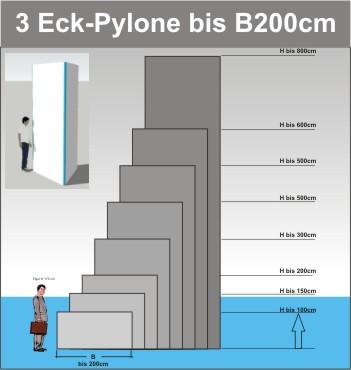 Dreieck Pylone B200cm