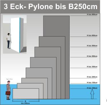 Dreieck Pylone B250cm