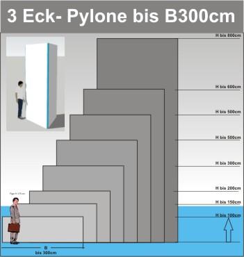 Dreieck Pylone B300cm