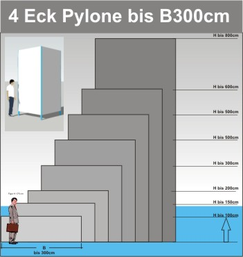 Viereck Pylone B300cm
