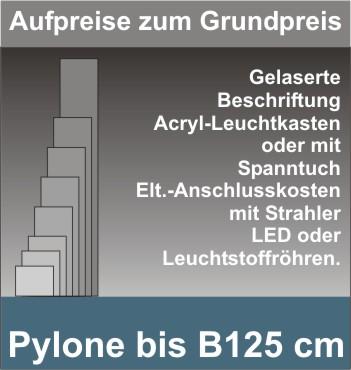 Viereck Pylone B125cm beleuchtet