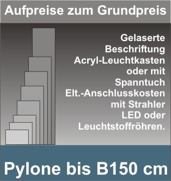 Viereck Pylone B150cm beleuchtet