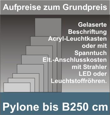 Viereck Pylone B250cm beleuchtet