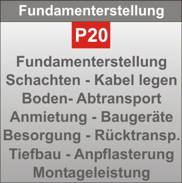 P20-Fundamenterstellung