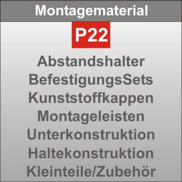 P22-Montagematerial