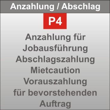 P4-Anzahlung