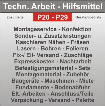 Projekt-Hilfmittel - Strahler - Elt.- Anschluss - Montagezusatzkosten - Verpackung - Versand